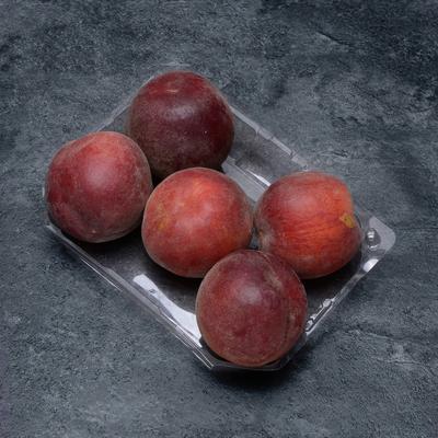 Pêche jaune, BIO, calibre C, catégorie 2, France, barquette 5 fruits