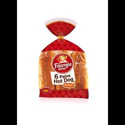 Pain pour hot dog LA FOURNÉE DORÉE, x6 soit 270g