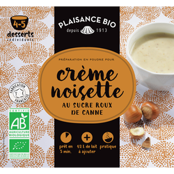 Préparation pour crèmes gourmandes noisette PLAISANCE BIO, 40g