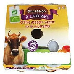 CREME DESSERT VANILLE X4 FERME PEARD