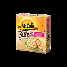 Bun's au jambon, 4 fromages et oignons MC CAIN, 400g