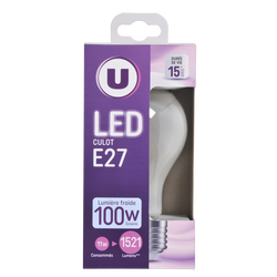 Led U, ronde, 100w, e27, opaque, lumière froide