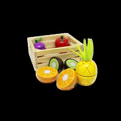 Fruit en cagette de bois 5/7 pièces