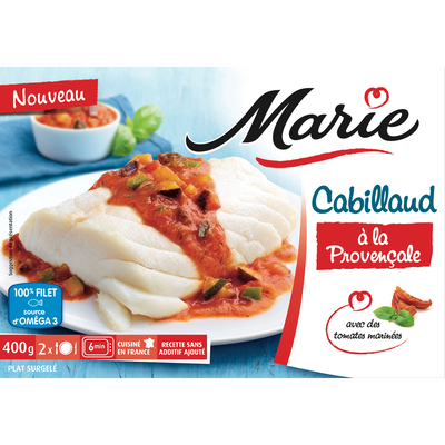 Cabillaud sauce à la provençale MARIE, 400g