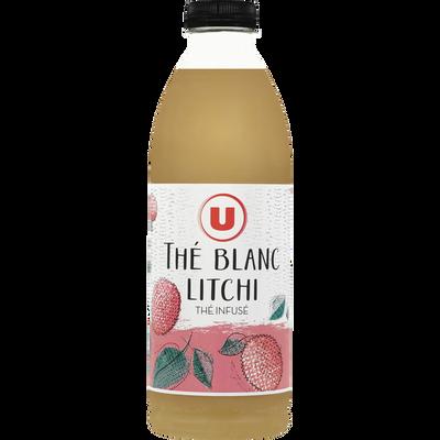 Boisson réfrigéré au thé blanc et au jus de litchi U, bouteille de 1l