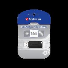 Clé USB Pinstripe VERBATIM 16Go, noir