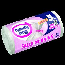 Sacs poubelle à liens salle de bains HANDY BAG, 5L x35
