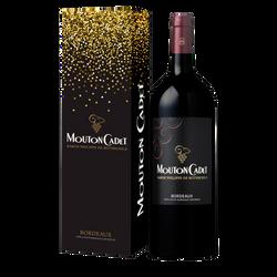 Vin rouge bordeaux AOP Mouton Cadet 2017 magnum, 1,5litre + étui