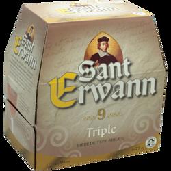 Bière blonde triple SAINT ERWANN, 9°, 6x25cl