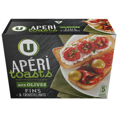 Apéri toasts aux olives U 100g