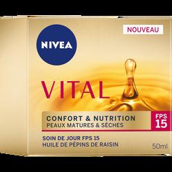 Soin de jour confort+ nutrition NIVEA VITAL, pot de 50ml