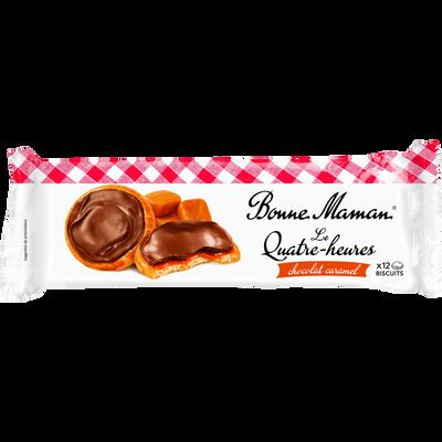 Le quatre heures chocolat caramel BONNE MAMAN, paquet de 160g
