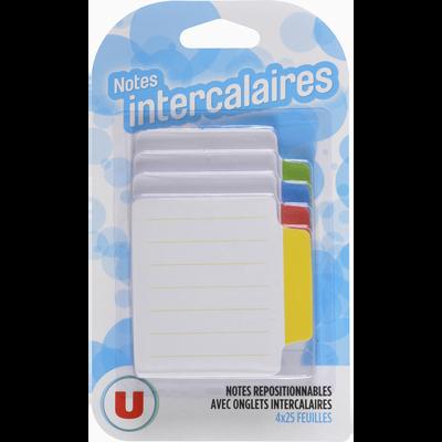 Note intercalaire U