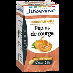 Equilibre confort urinaire pépins de courge JUVAMINE, 30 gélules