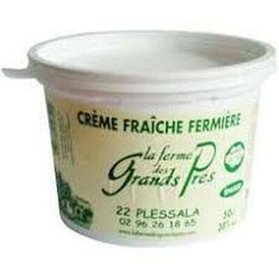 Crème fraîche fermière La ferme des grands prés  50cl