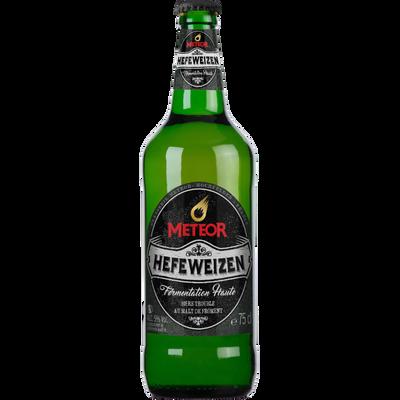 Bière Hefeweizen METEOR, 5°, bouteille en verre consigné de 75cl