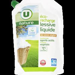 Lessive liquide au savon végétal Nature U, recharge de 2l soit 30 lavages