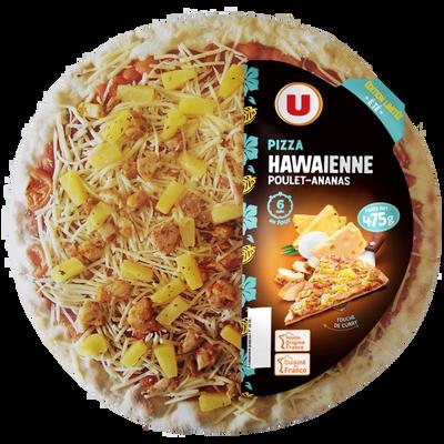 Pizza hawaienne au poulet, ananas et aromatisée curry U, 475g