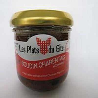 Boudin Charentais aux oignons à tartiner sans gluten, 180gr, bocal, Les plats du gîte