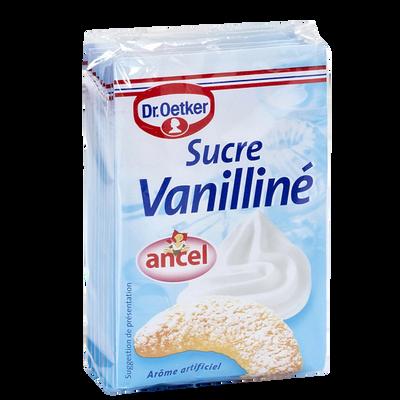 Sucre Vanilline ANCEL, 10 sachets, cello de 80g
