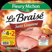 Fleury Michon Jambon Le Braisé Ss Couenne Vpf Fleury Michon 4tr+2 Offert 240g
