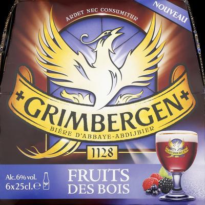 Bière fruits des bois GRIMBERGEN, 6° 6x25cl