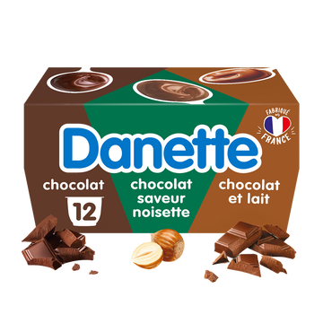 Danone Crème Dessert 3 Chocolats Danette, 12x115g