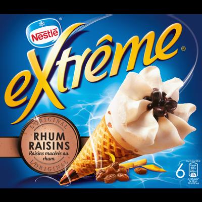 Cônes glacés rhum raisins EXTRÊME, x6, 426g