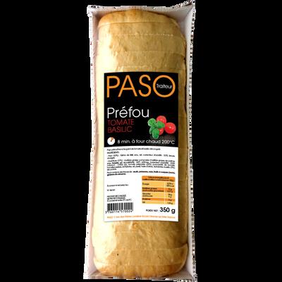 Préfou aux tomates et au basilic pré tranché PASO, barquette de 350g