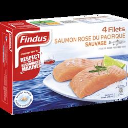 Filets de saumon rose du Pacifique good planète FINDUS, 4 x 100g