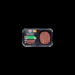 Steak haché, 10% MAT.GR, U NA, charolais, France, 2 pièces, 280g