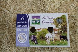 yaourts nature lait entier LES PRAIRIES DE LA GARTEMPE 6x125g