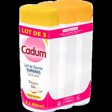 Cadum Dche Velour Fleurs Oranger 2x400ml+lait Surgras Vanille 400ml Cadum