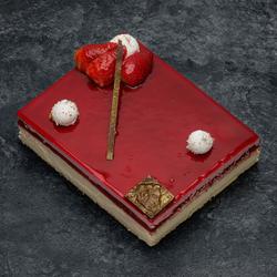 Gâteau Délicieux fraise vanille décongelé, 8 parts, 1,080kg