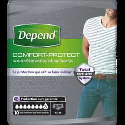 Sous-vêtements homme comfort protect taille S/M DEPEND, x10