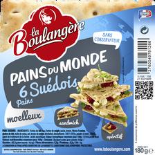 Pain Suédois LA BOULANGERE, 6 pièces, 180g
