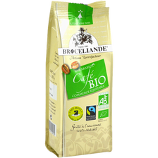 Café moulu 100% arabica commerce équitable bio BROCELIANDE, 250g