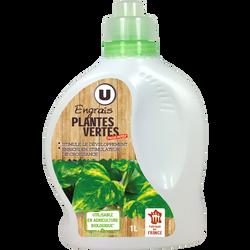Engrais liquide U, Plantes vertes, utilisable en agriculture biologique, 1l