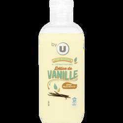 Lait de douche parfum délice de vanille BY U, flacon de 100ml