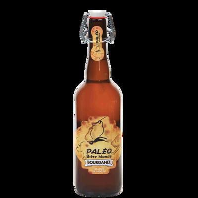 Bière blonde paléo BOURGANEL 5°, bouteille de 75cl
