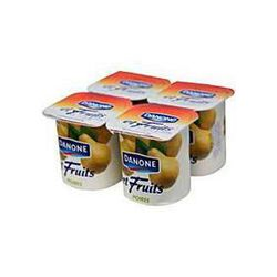 Yaourts fruits poires, DANONE, 4x125g