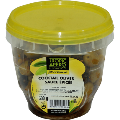 Olive cocktail jarre, 500g