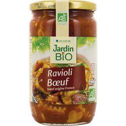 Plat cuisiné Ravioli bœuf JARDIN BIO'LOGIQUE 700G