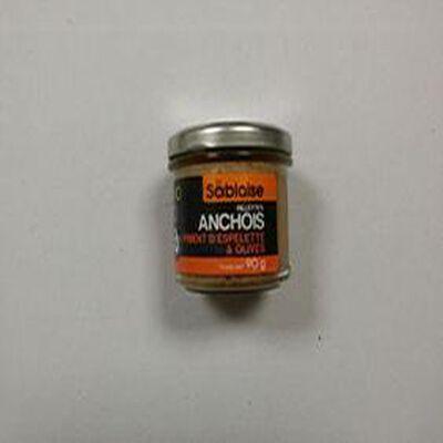 Rillettes d'anchois au piment d'Espelette et aux olives La Sablaise 90g