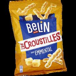 Biscuits apéritifs les croustilles goût emmental BELIN, sachet de 88g