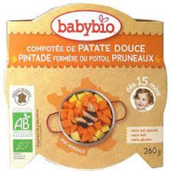 Ass Patate douce Pintade Pruneaux BABYBIO dès 15 mois 260g