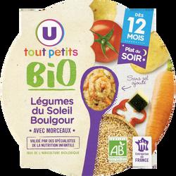 Assiette soir legumes du soleil et boulghour Tout Petits Bio U, dès 12mois, 230g
