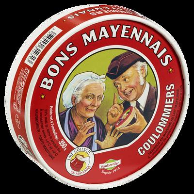 Coulommiers au lait pasteurisé BONS MAYENNAIS, 23% de MG, 350g