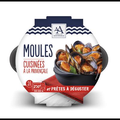 Moule cuite à la provençale, Mytilus galloprovincialis, transformée enEspagne, barquette de 500g