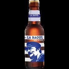 Bière blonde LA RAOUL,  7°, bouteille de 33cl